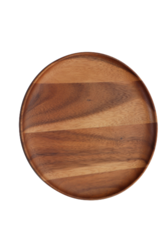 Dash of That™ Acacia Wood Round Plate Perspective: front