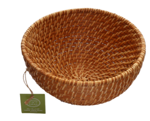 Dash of That™ Large Rattan Serving Bowl Perspective: front