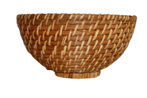 Dash of That Small Rattan Serving Bowl Perspective: front