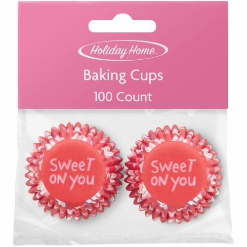 Holiday Home™ XOXO Mini Baking Cups Perspective: front