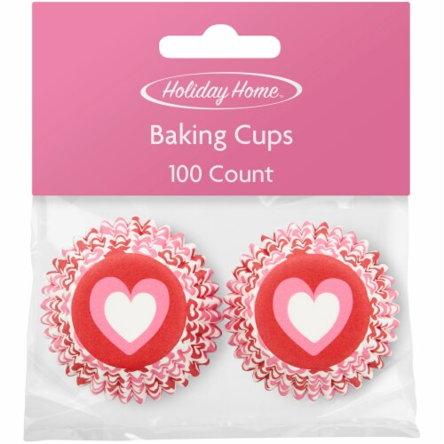 Holiday Home™ Hearts Mini Baking Cups Perspective: front