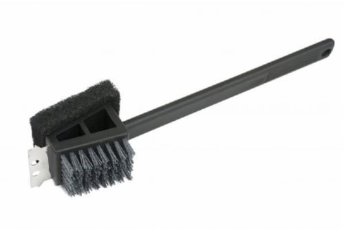 HD Designs Grill Safe Scrub 2-in-1 Long Handle Grill Brush Perspective: front