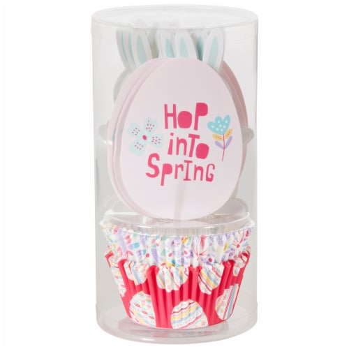 Holiday Home Hop Into Spring Bunny Cupcake Decoration Kit Perspective: front