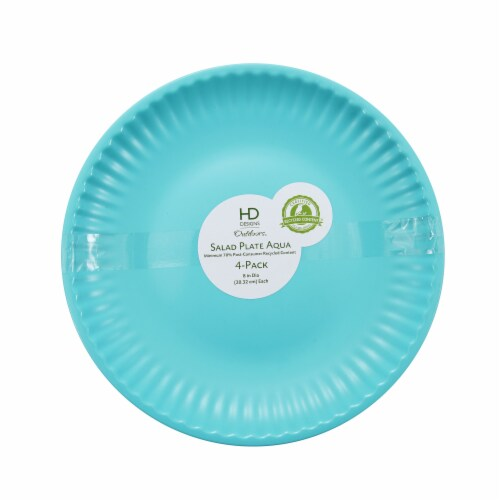 HD Designs Outdoors® Paper Plate Style Salad Plate - 4 Pack - Aqua Perspective: front