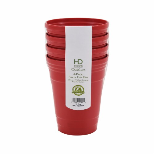 HD Designs Outdoors® Party Cup - 4 Pack - Red Perspective: front
