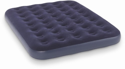 Glacier's Edge Flocked Air Bed - Blue Perspective: front