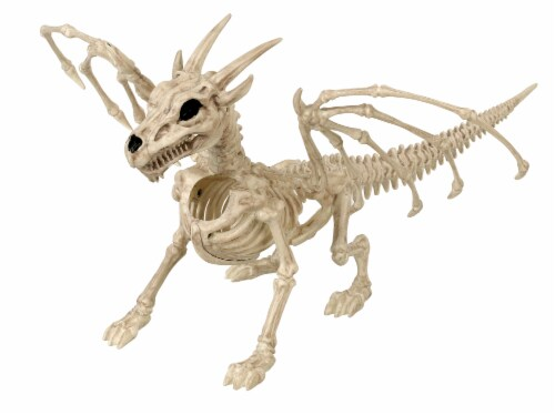 Holiday Home Dragon Skeleton Decor - Cream Perspective: front