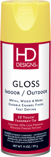 HD Designs® Indoor/Outdoor Gloss Spray Paint - Sunburst Yellow Perspective: front
