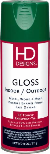 HD Designs® Indoor/Outdoor Gloss Spray Paint - Shamrock Green Perspective: front