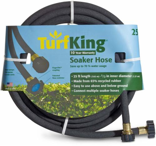 Turf King® Soaker Hose - Black Perspective: front