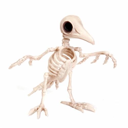 Holiday Home Tweety Bonez Skeleton Figure - Cream Perspective: front