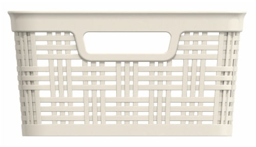 Everyday Living Medium Wicker Basket - Ivory Perspective: front