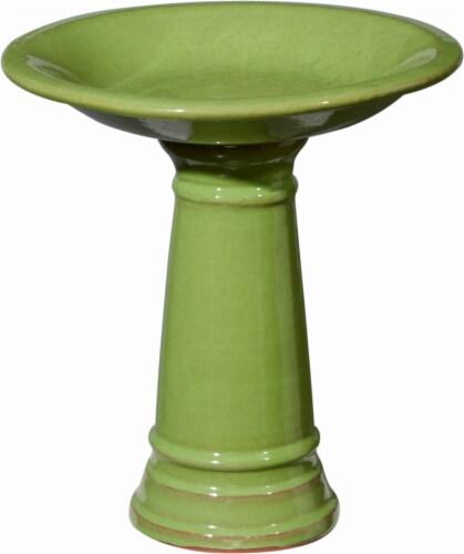 Tri-R Sales Mini Bird Bath - Bright Green Perspective: front