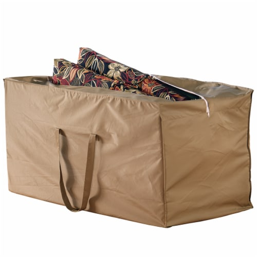 HD Designs Outdoors Cushion Storage Bag - Taupe Perspective: front