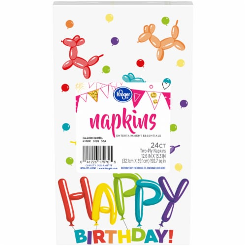 Kroger® Entertainment Essentials Balloon Animal Napkins - 24 Pack Perspective: front
