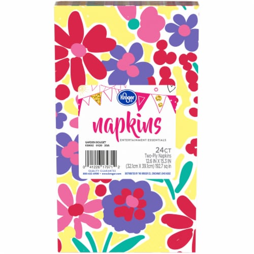 Kroger® Entertainment Essentials Garden Bouquet Napkins Perspective: front