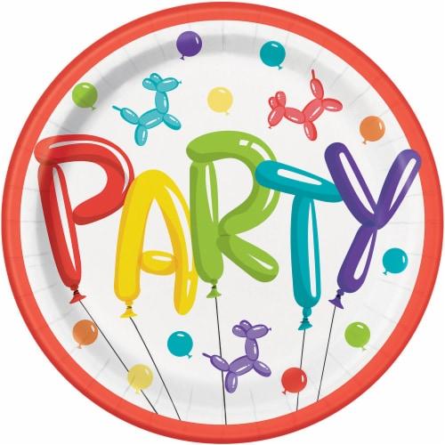 Kroger® Entertainment Essentials Paper Plates - Balloon Animals Perspective: front