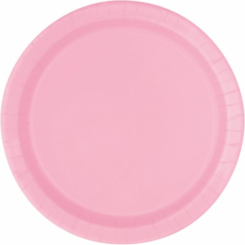 Kroger® Entertainment Essentials Paper Plates - Lovely Pink Perspective: front
