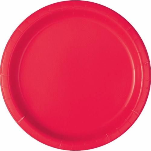 Kroger® Enterntainment Essentials Paper Plates - Lollipop Pink - 8 Pack Perspective: front