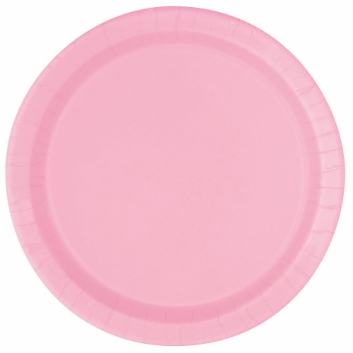Kroger Entertainment Essentials Paper Plates - 8 Pack - Lovely Pink Perspective: front