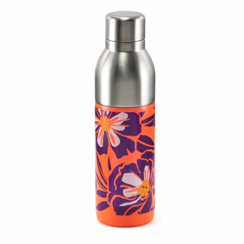 HD Designs Outdoors Dual Opening Stainless Steel Water Bottle Perspective: front