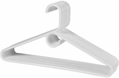 Everyday Living Heavyweight Hangers - White Perspective: front