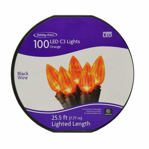 Holiday Home® 100 LED C3 String Lights - Orange Perspective: front