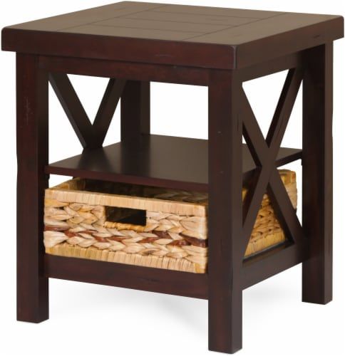 HD Designs Parker End Table - Brown Perspective: front
