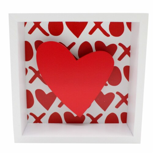 Holiday Home® Heart Shadow Box Sign Perspective: front