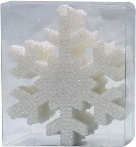 Holiday Home® Shatterproof Snowflake Ornaments - White Perspective: front