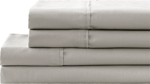 HD Designs 300 Thread Count Sheet Set - 4 Piece - Silver Lining Perspective: front