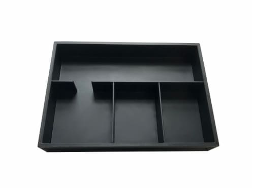 Everyday Living 4-Compartment Organizer - Black Perspective: front