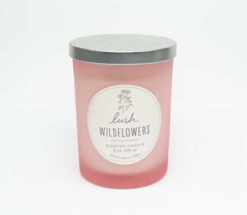 HD Designs Lush Wildflowers Jar Candle Perspective: front