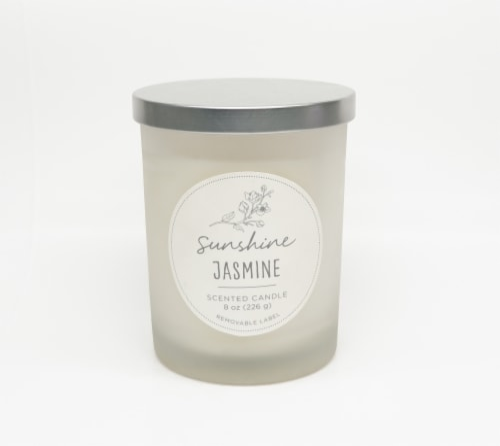HD Designs Sunshine Jasmine Jar Candle Perspective: front