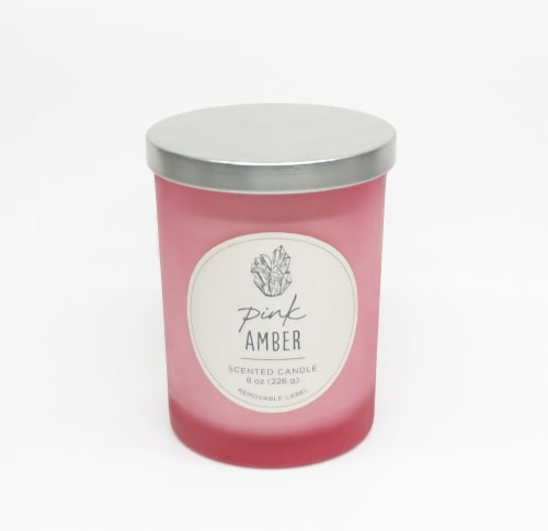 HD Designs Pink Amber Jar Candle Perspective: front