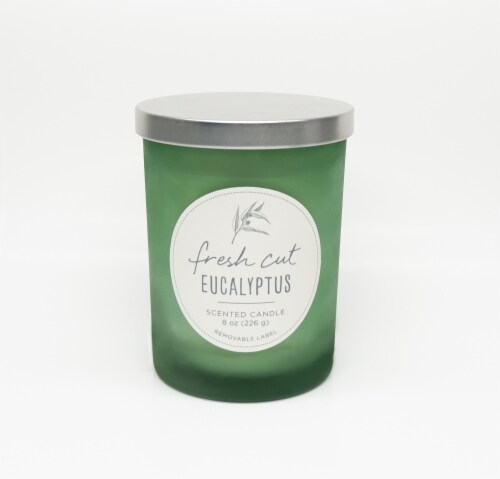 HD Designs Fresh Cut Eucalypus Jar Candle Perspective: front
