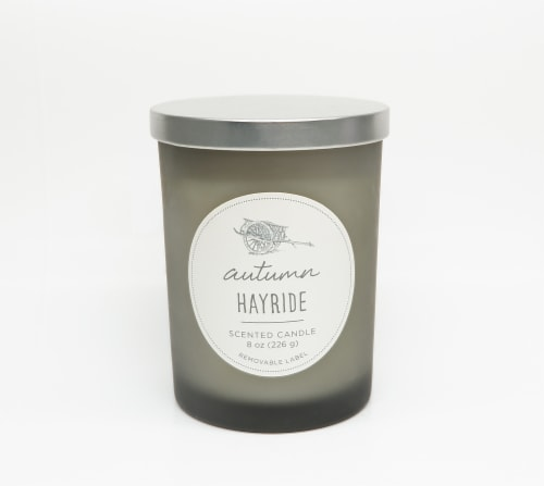 HD Designs Autumn Hayride Jar Candle Perspective: front