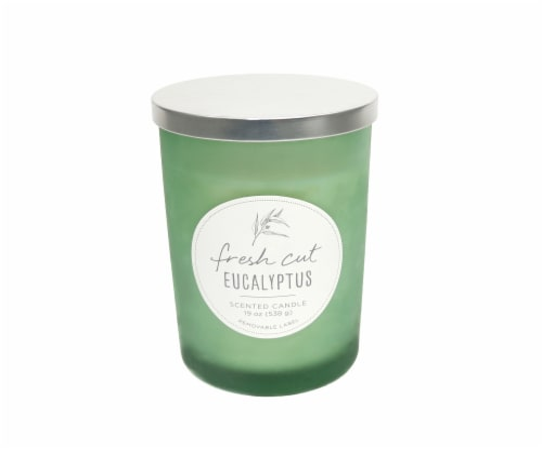 HD Designs Fresh Cut Eucalyptus Jar Candle Perspective: front