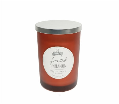 HD Designs Frosted Cinnamon Candle Jar Perspective: front