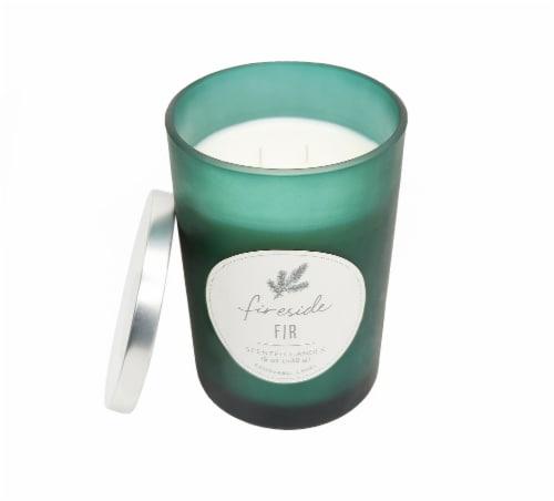 HD Designs Fireside Fir Candle Jar Perspective: front