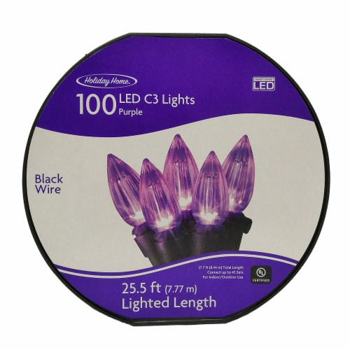 Holiday Home® 100 LED C3 Lights - Purple Perspective: front
