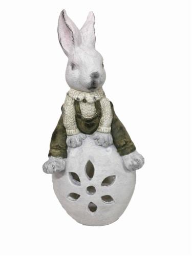 Holiday Home Rabbit Luminary Garden Decor Perspective: front