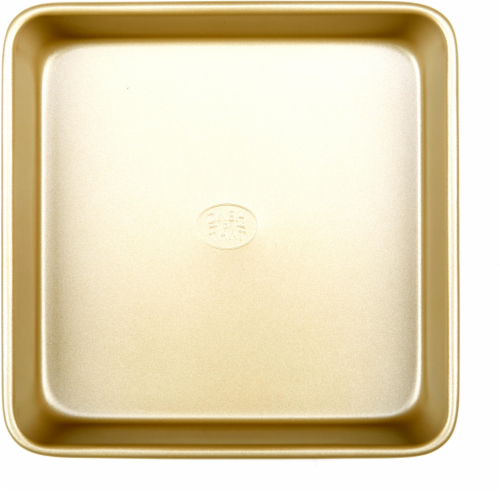Dash of That Square Cake Pan - Gold Perspective: front