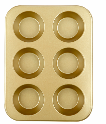 Dash of That Texas Muffin Pan - Gold Perspective: front