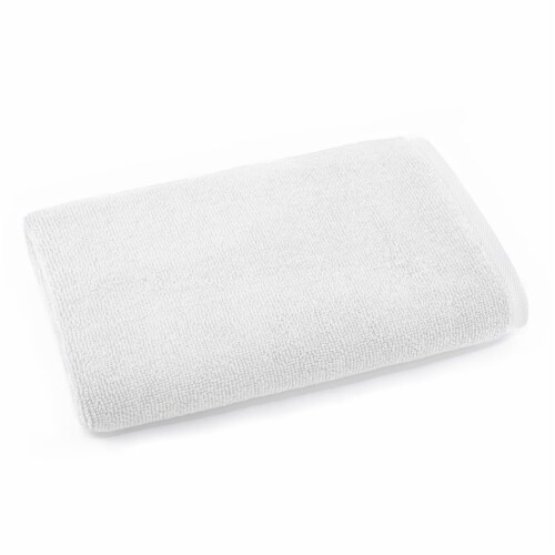 Dip Solid Bath Sheet - White Perspective: front