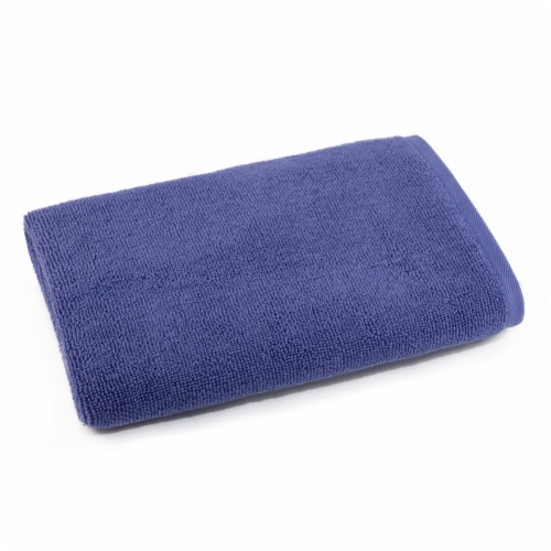 Dip Solid Bath Sheet - Bleached Denim Perspective: front