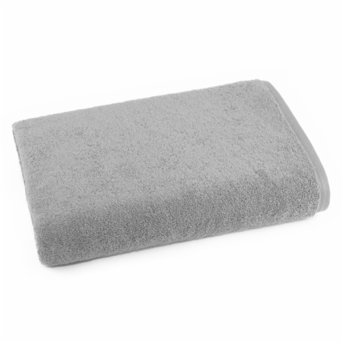 Dip Solid Bath Sheet - Pearl Blue Perspective: front