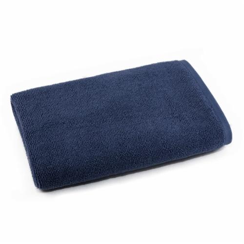 Dip Solid Bath Towel - Crown Blue Perspective: front