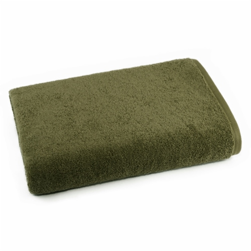 Dip Solid Bath Towel - Green Perspective: front