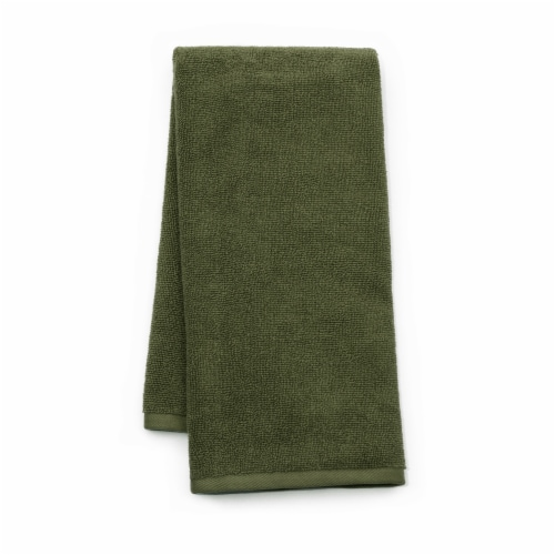 Dip Solid Hand Towel - Green Perspective: front